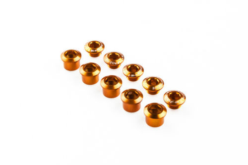 Бонки шатунов Aerozine A3, алюминиевые, оранжевые, 5 шт
