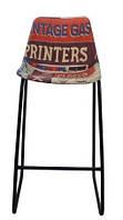 Стул барный bar print chair RAE39. В стиле Лофт. Ручная работа. Сделано в Индии.