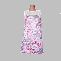 Платье детское из полотна: Вискоза + гипюр