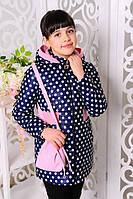 Демисезонная куртка в горошек для девочки Валерия