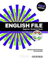 Учебник с DVD English File Beginner, третье издание, Christina Latham-Koenig | Oxford