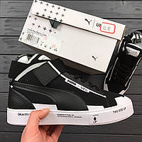Кроссовки Puma x UEG Men Court Play black/white. Живое фото! Топ качество! (пума, пума ueg)