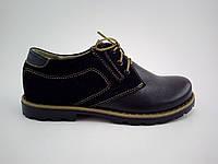 Туфли детские классические кожаные черного цвета