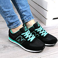 Кроссовки женские New Balance черные ЗАМША, спортивная обувь