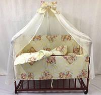 Детский постельный набор в кроватку 7 предметов!!!