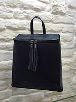 Женский рюкзак черный  итальянский Leather Country