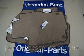 Коврики в салон велюровые коричневые Mercedes GL X164 GL320 GL350 GL450 GL550 2006-12 Новые Оригинальные