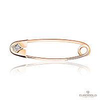 Эдем Золотая булавка c бриллиантом бл7003