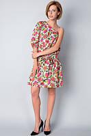 Платье-сарафан с одним рукавом П187