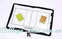 Доска тактическая волейбольная 5933, 42x28,5см: планшет на молнии + фишки + маркер