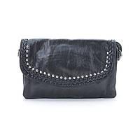 Маленькая черная женская сумочка клатч через плечо