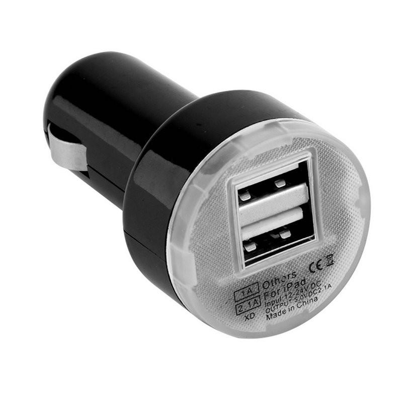 Автомобільний зарядний пристрій USB зарядка від прикурювача 12В, 24В
