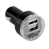Автомобільний зарядний пристрій USB зарядка від прикурювача 12В, 24В, фото 1