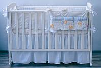 """Детское постельное белье """"Мишки"""" (беж/голубой) (120х60), фото 1"""