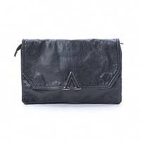 Тонкая женская сумочка клатч черного цвета