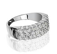Серебряное кольцо Дорожка  с Фианитами 925 пробы