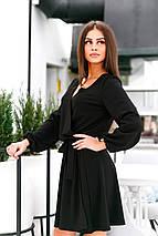 Однотонное платье с поясом, фото 3
