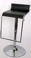 Барный стул-табурет хромированный Огус черное  пластиковое сиденье