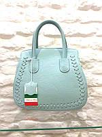 Женская сумка кожаная голубая на лето Италия оригинал Leather Country