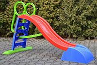 Детская горка Mochtoys 187 см XL (синий-красный-зеленый)