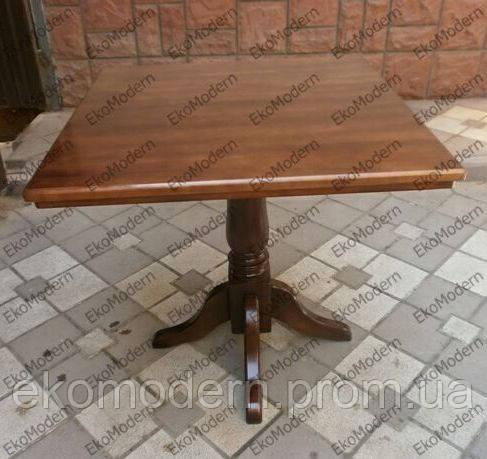 Стол деревянный ЦЕЗАРЬ на одной ноге для дома, кафе и ресторана (квадратный, круглый)