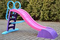 Детская горка Mochtoys 187 см XL (фиолетовый-розовый-синий), фото 1