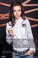 Рубашка с котиком, вышивка / батист / Украина, фото 1