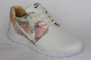 "Кроссовки  на девочку  ""Nike"" белого цвета"