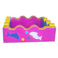 Квадратный сухой бассейн Дельфин 2м