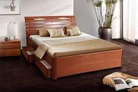 """Кровать """"Мария Люкс"""" (бук) с 4-мя ящиками 1400х2000"""