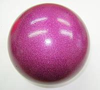 Мяч Venturelli глиттер 18 cm Purple Art. 18W-517
