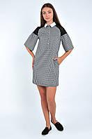 Короткое женское платье прямого кроя