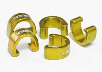 Клипсы KREX для крепления рубашек и гидролиний, золотые