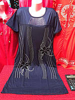 Женская домашняя ночная рубашка с коротким рукавом - Артикул 141-19