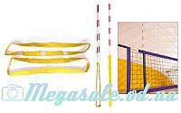 Карманы для антенн волейбольных пляжных 5276 (стандарт FIVB): прорезиненная ткань, 2 штуки в комплекте