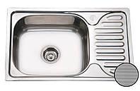 Кухонная мойка врезная 66*42 см металл 0,8 мм декорированная Galaţi Mirela Textură