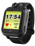 Детские умные gps часы сенсор с камерой и 3G Smart baby watch Q200 Android black Гарантия 12 мес