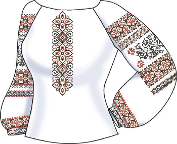 СВЖБ-61. Заготовка Жіноча сорочка лляна біла 972ec25e5a86c