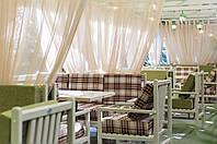 Шторы для террас с пропиткой - Антимоскитные шторы. зеленый