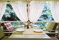 Шторы для террас с пропиткой - Антимоскитные шторы. красный