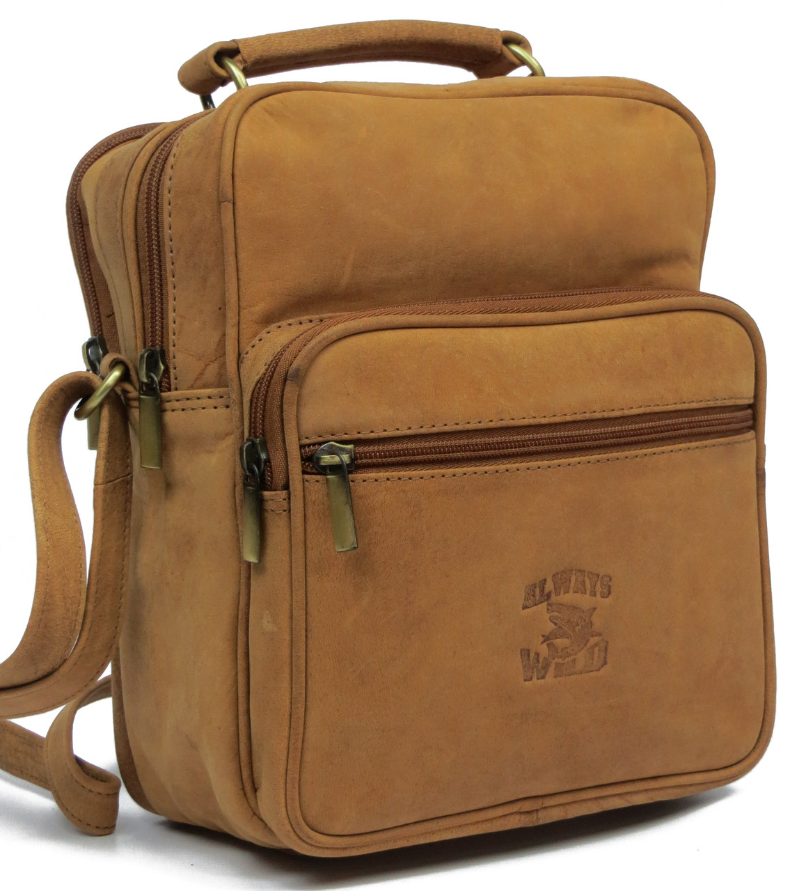 Кожаная сумка  Always Wild LB07CH рыжий