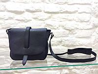 Брендовая женская сумка черная кожаная маленьких размеров Leather Country