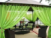 Шторы для террас с пропиткой - Антимоскитные шторы. салатовый