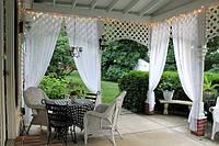 Шторы для террас с пропиткой - Антимоскитные шторы. белый