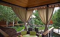 Шторы для террас с пропиткой - Антимоскитные шторы. коричневый