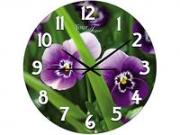 Часы настен.серия Кухня Цветочные стекло/кругл. 28 см
