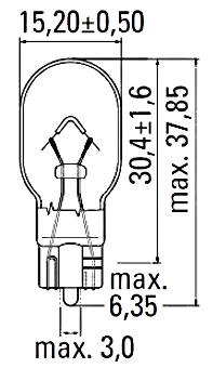 Светодиодная автомобильная лампа с цоколем T15(W16W)-Cree-25W-в фонарь заднего хода, фото 2