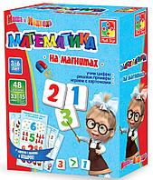Игра на магнитах Математика. Маша и Медведь (укр.), Vladi-toys, VT3305-05