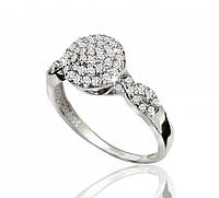 Серебряное кольцо с Фианитами  925 пробы