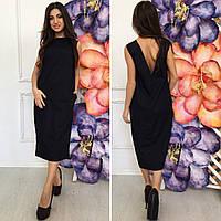 Платье летнее свободного кроя, ткань рубашечная ,цвет черный и белый фото реал ишве № 7905